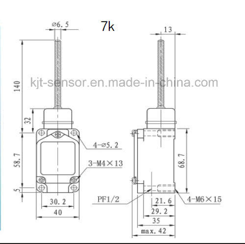 high temperature limit switch for industry KJTDQ-2
