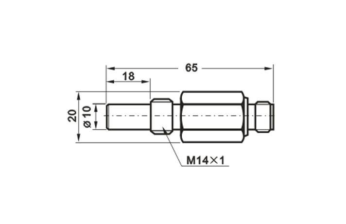M14 High Pressure Proximity Sensor 500bar L=65mm With M12